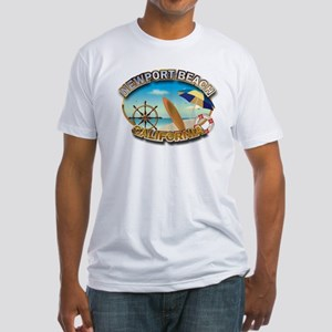 Newport Beach, CA Fitted T-Shirt