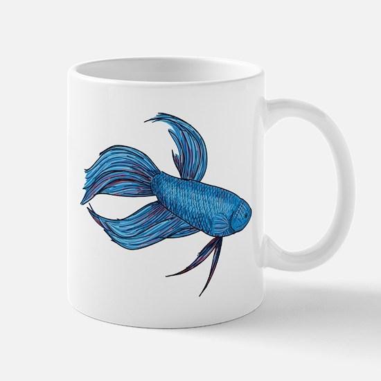 Siamese Fighter (Beta Fish) Mug
