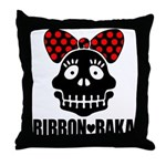 RIBBON-BAKA Throw Pillow