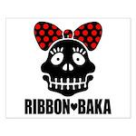 RIBBON-BAKA Small Poster