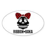 RIBBON-BAKA Sticker (Oval 10 pk)