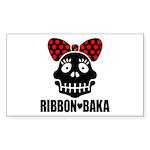 RIBBON-BAKA Sticker (Rectangle 10 pk)