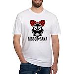 RIBBON-BAKA Fitted T-Shirt