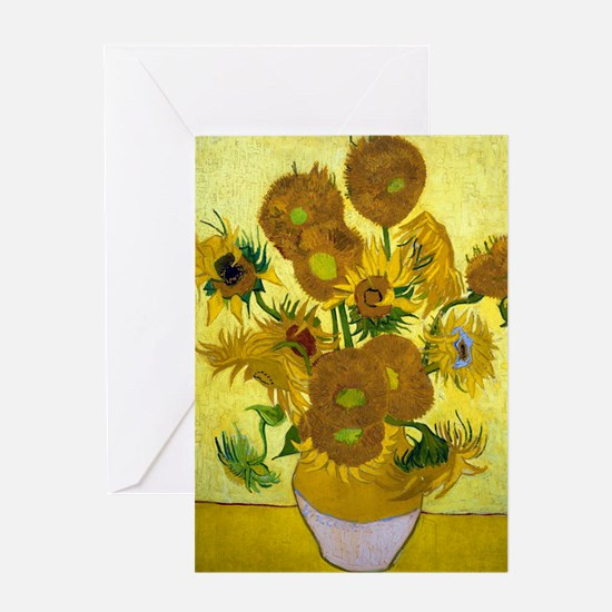 Van Gogh - 15 Sunflowers Greeting Card