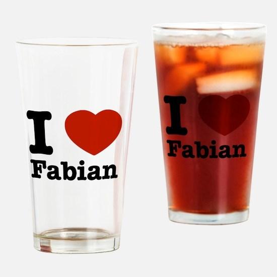 I love Fabian Drinking Glass
