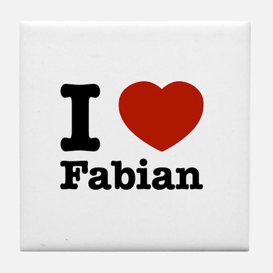 I love Fabian Tile Coaster