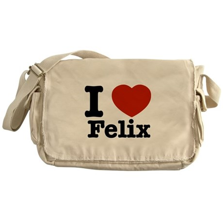 I love Felix Messenger Bag