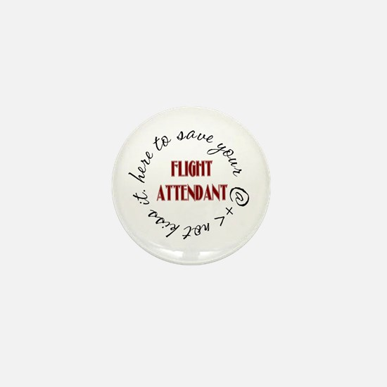 Here to save (red) Mini Button