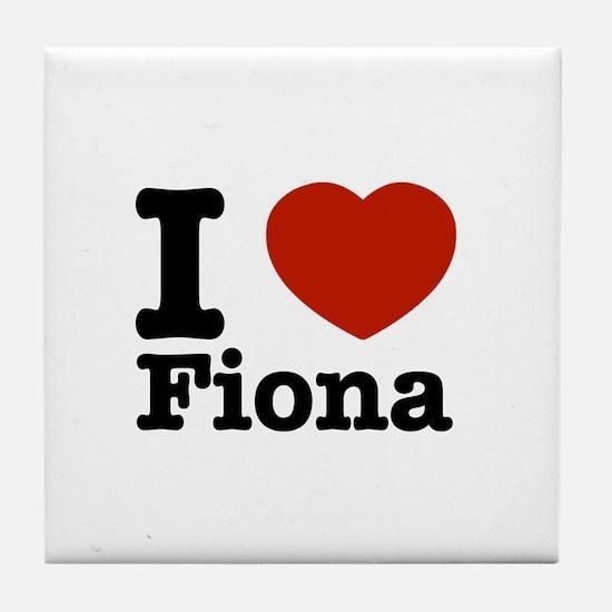 I love Fiona Tile Coaster