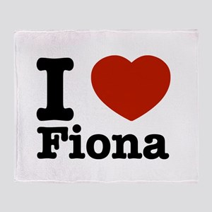I love Fiona Throw Blanket