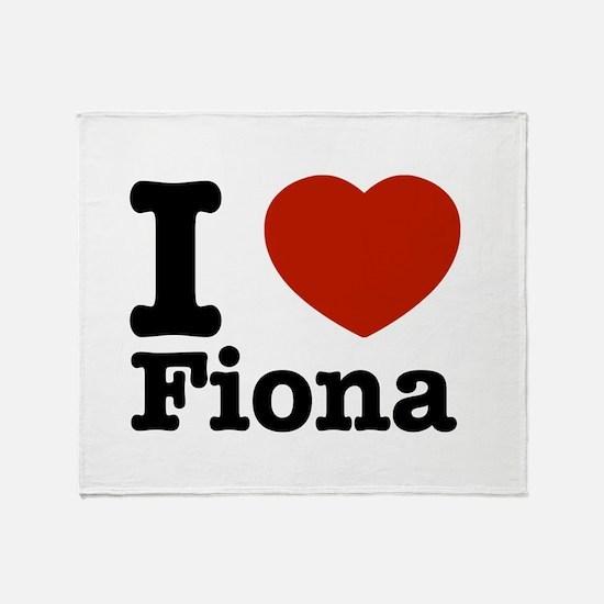 I love Fiona Throw Blanket