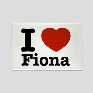 I love Fiona Rectangle Magnet
