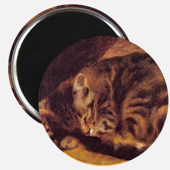 Renoir's Sleeping Cat Magnet