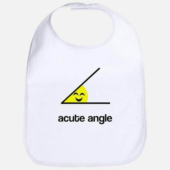 Acute a cute angle Bib