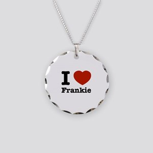 I love Frankie Necklace Circle Charm