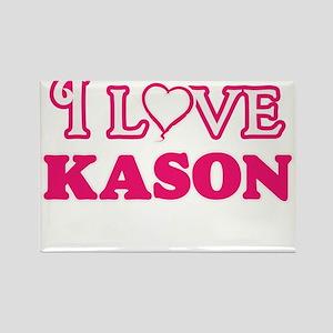 I Love Kason Magnets