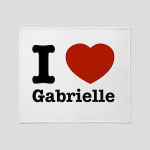 I love Gabrielle Throw Blanket