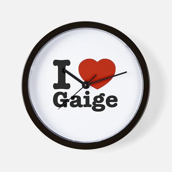 I love Gaige Wall Clock