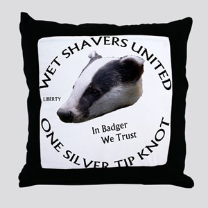 Wet Shavers United Throw Pillow