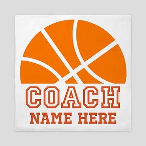 Basketball Coach Name Queen Duvet