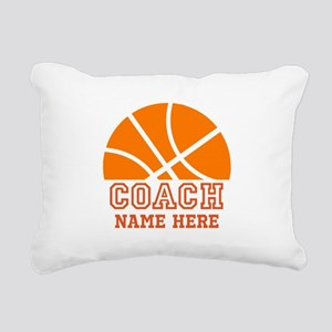 Basketball Coach Name Rectangular Canvas Pillow