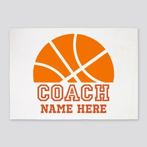 Basketball Coach Name 5'x7'Area Rug