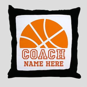 Basketball Coach Name Throw Pillow