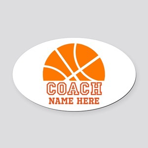 Basketball Coach Name Oval Car Magnet