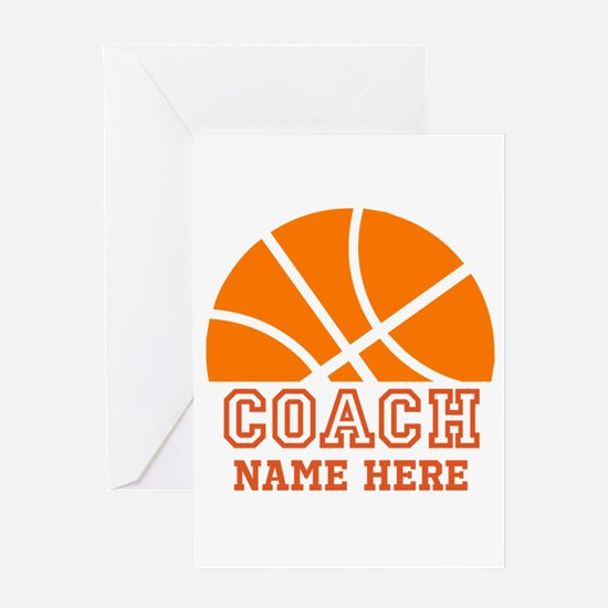 Basketball Coach Name Greeting Card