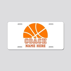 Basketball Coach Name Aluminum License Plate