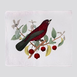 Red Bird Throw Blanket