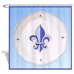 Fleur de Lis 2 Shower Curtain