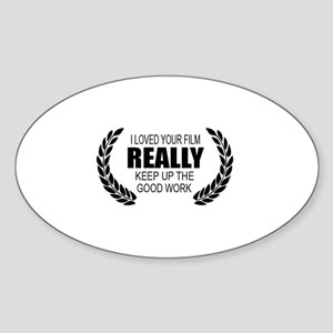 Film Festival Shirt Oval Sticker