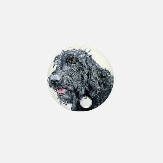 Black Labradoodle #3 Mini Button