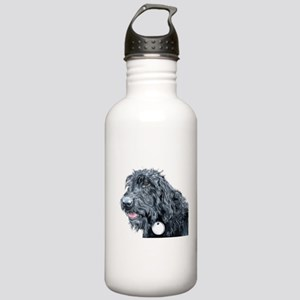 Black Labradoodle #3 Stainless Water Bottle 1.0L
