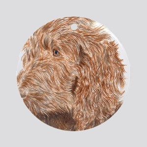 Chocolate Labradoodle 5 Ornament (Round)