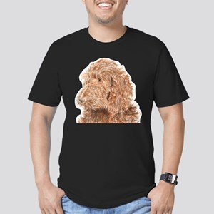 Chocolate Labradoodle 5 Men's Fitted T-Shirt (dark