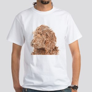 Chocolate Labradoodle 5 White T-Shirt