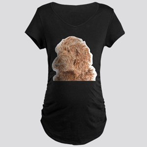 Chocolate Labradoodle 5 Maternity Dark T-Shirt