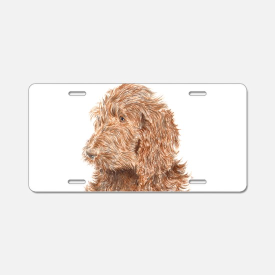 Chocolate Labradoodle 5 Aluminum License Plate