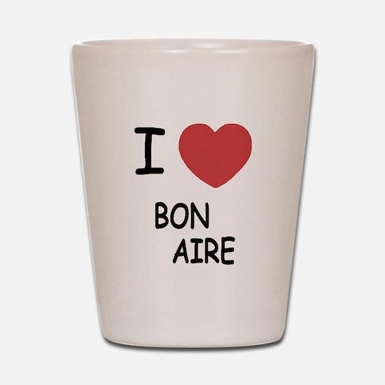 I heart bonaire Shot Glass