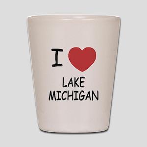 I heart lake michigan Shot Glass