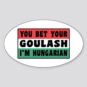 Funny Hungarian Goulash Sticker (Oval)
