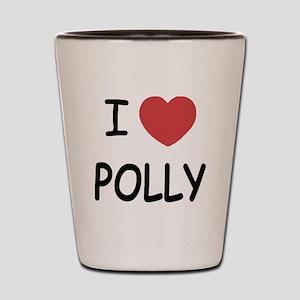 I heart polly Shot Glass