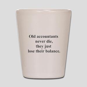 old accountants Shot Glass