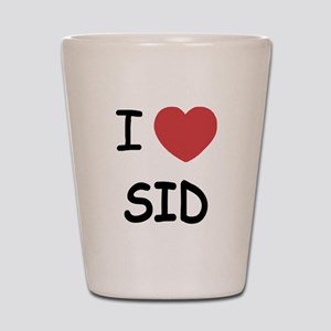 I heart sid Shot Glass