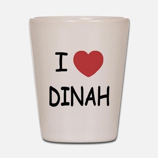 I heart dinah Shot Glass