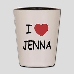 I heart jenna Shot Glass