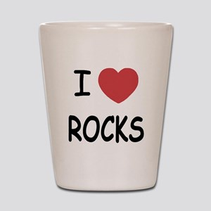 I heart rocks Shot Glass