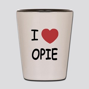 I heart opie Shot Glass
